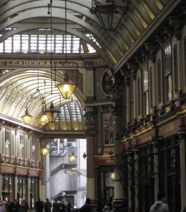 Lloyd's through Leadenhall Market