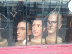 Bizarre window display, St Pancas